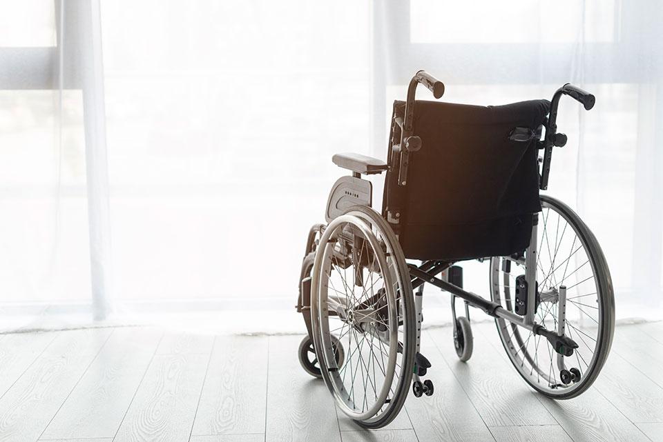 Wózek inwalidzki z wypożyczalni